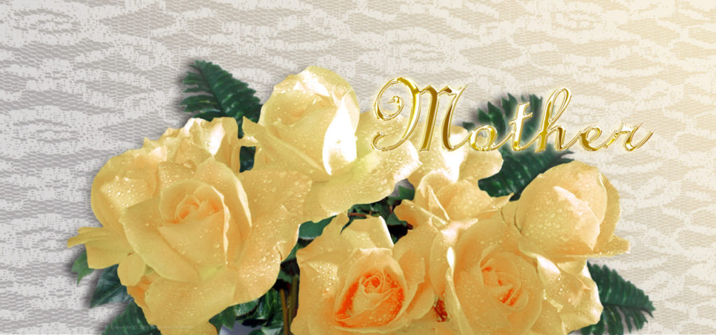 P-201LM Yellow Roses (Mother-Gold)(Lace)